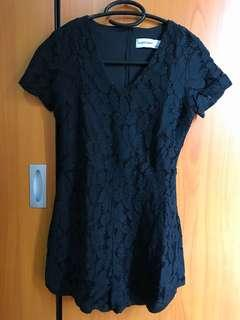 Jumpsuit hitam / black model lace / brokat