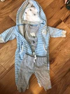 Baby 0-3m winter outfits