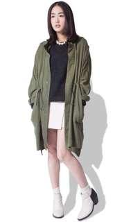 Initial military green jacket