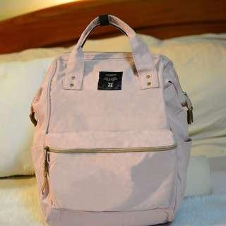 Authentic Anello Backpack Pastel Pink