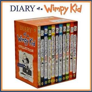 Diary Of A Wimpy Kid set of 11