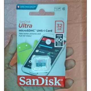 SANDISK 32GB MEMORY CARD 100% ORIGINAL