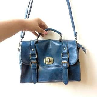 Navy Satchel