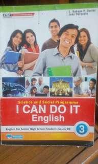 Buku bahasa inggris ktsp 2006 SMA ( i can do it masmedia kelas 12 dan english alive yudhistira kelas 10)