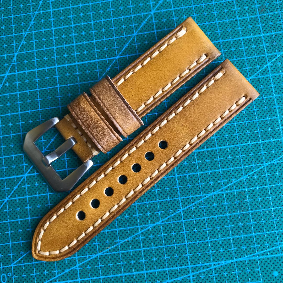 8938ed2cb 12.12 Sale: 22mm Yellow Watch Strap Genuine Leather, Men's Fashion ...