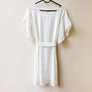 Angel Dress w/ Flutter Sleeves