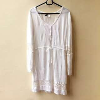 H&M White Tunic Dress