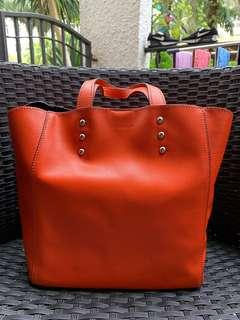 Coccinelle Red Bucket Bag