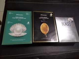 3 Facial Mask JMsolution x2 and RAY x1