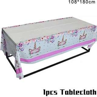 Unicorn theme party supplies- tablecloth / table cover