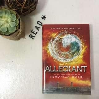 Allegiant hard bound book