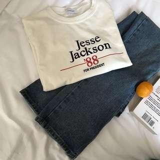 🚚 全新 韓 厚款 英文字母 上衣 短袖T恤