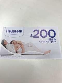Mustela Cash Coupon $200