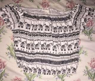 [REPRICED] Orig H&M Coachella Crop top