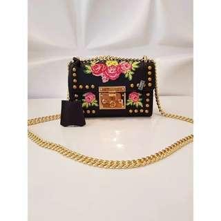 8a822b5c5 Bag Gucci Padlock Flower Mini Vip Authentic Mirror Super Quality
