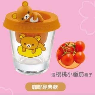 🚚 7-11🐻Rilakkuma🐻 拉拉熊粉嫩櫻花系列 🌸 立體公仔多用途玻璃水杯 🍅 現貨兩款可選 🌿