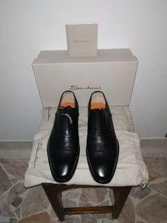 1 x brand new and unused Italian hand crafted Santoni black formal shoes with free delivery