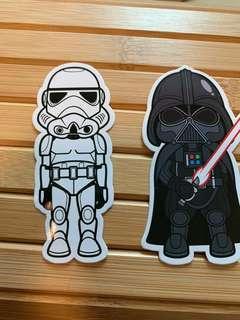 Star Wars suitcase stickers set