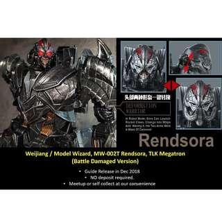 [Preorder] Weijiang / Model Wizard, MW-002T Rendsora, The Last Knight Megatron (Battle Damaged Version)