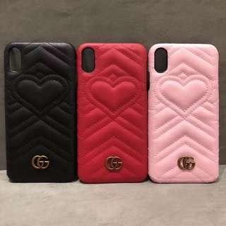 Gucci Love PU leather case X/XS XS Max
