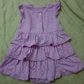 Carter's purple polka dress 24m