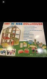 Melissa & Doug. Quality wooden doll house. Brand new in box.....!!