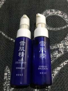 Authentic Brand New Kose Sekkisei Emulsion and White Liquid Wash