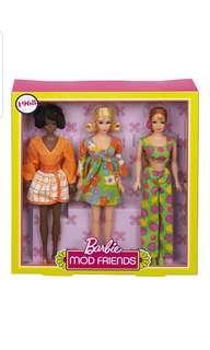 PO Barbie Mod Squad Doll Giftset, 3 Pack