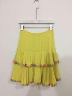Yellow skirt size S