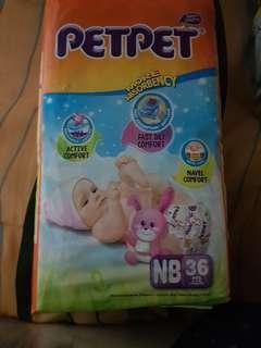 Petpet diapers nb