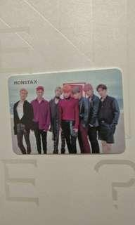 WTT/WTS MONSTA X GROUP PHOTOCARD