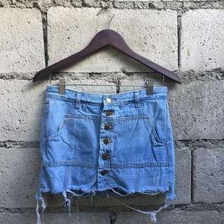 SALE! Button Down Denim Skirt