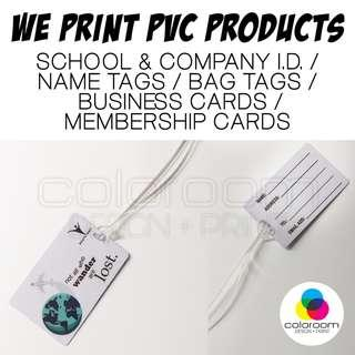 PVC Card : Name, Bag Luggage Tags / ID / Business Membership