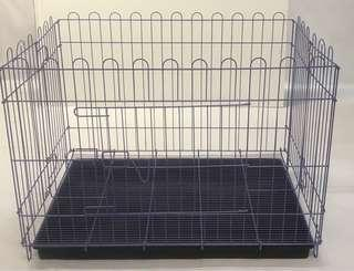 Play pen with tray for dogs or rabbits
