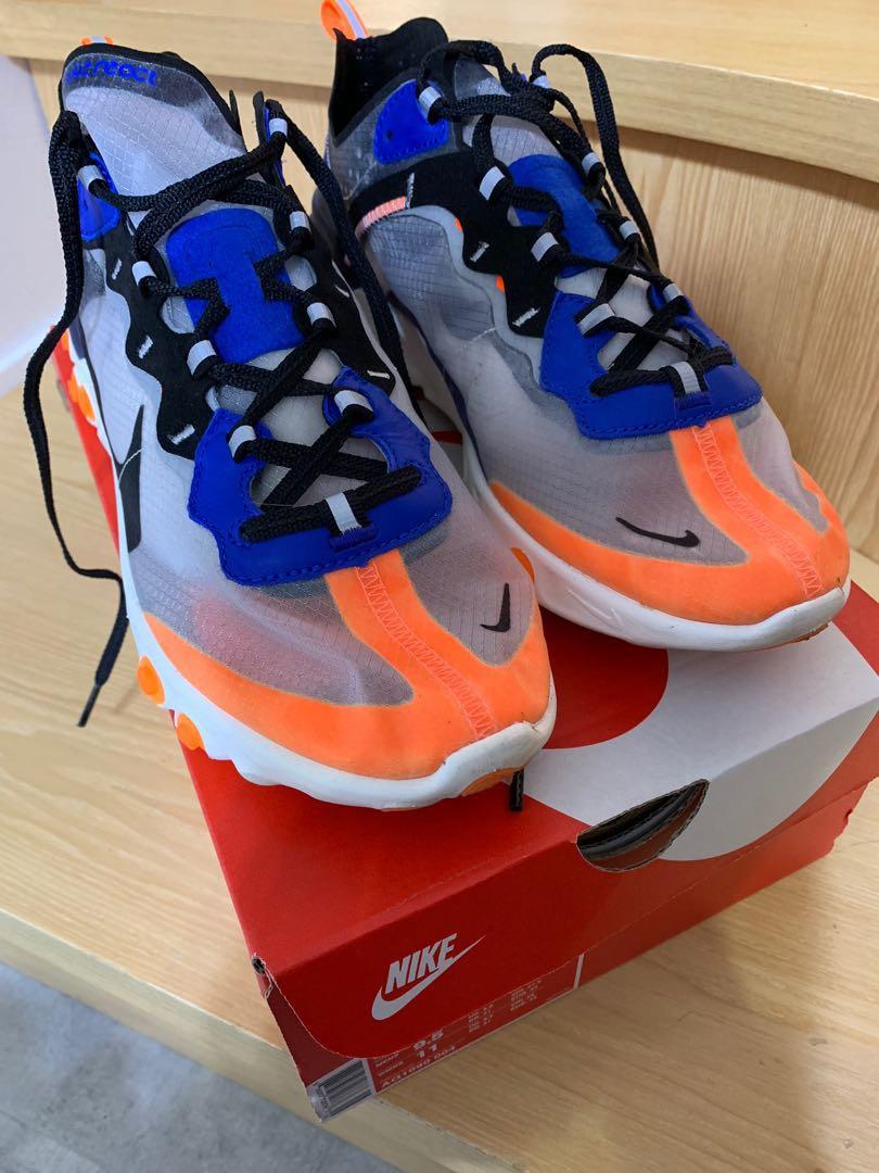 more photos 9db0a ba52a 98% new Nike react element 87 藍橙 US9.5 —-off white Gucci Adidas