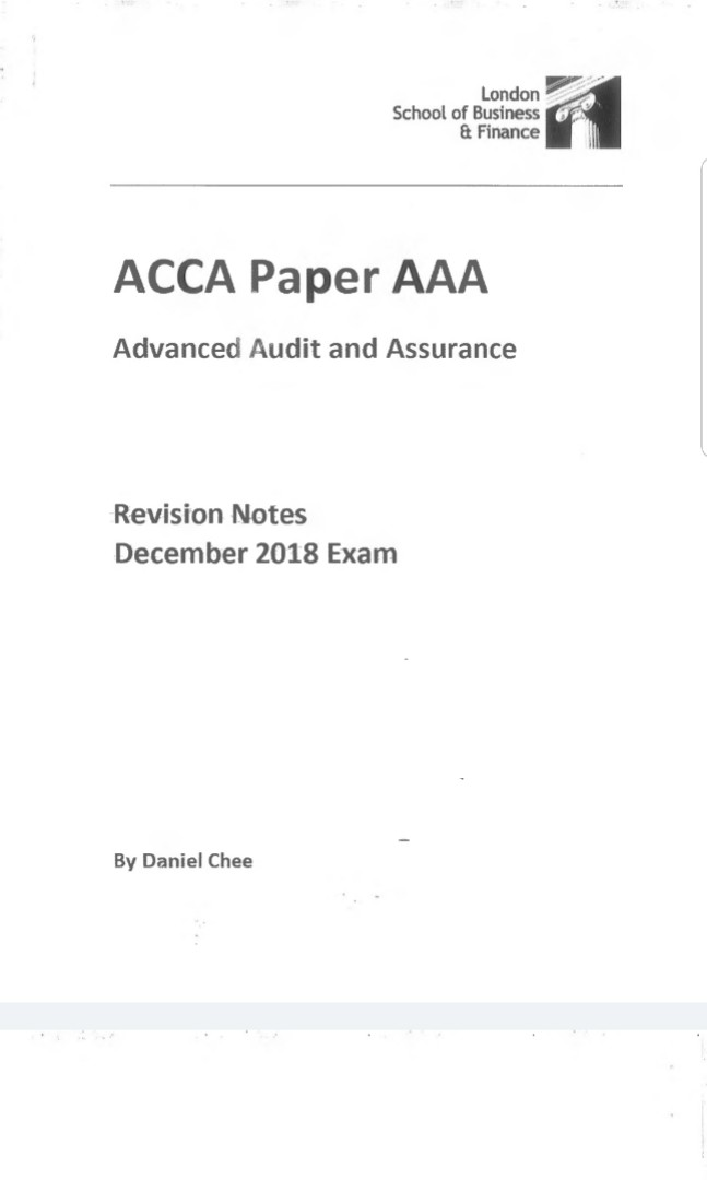 Acca F3 Notes Pdf 2018