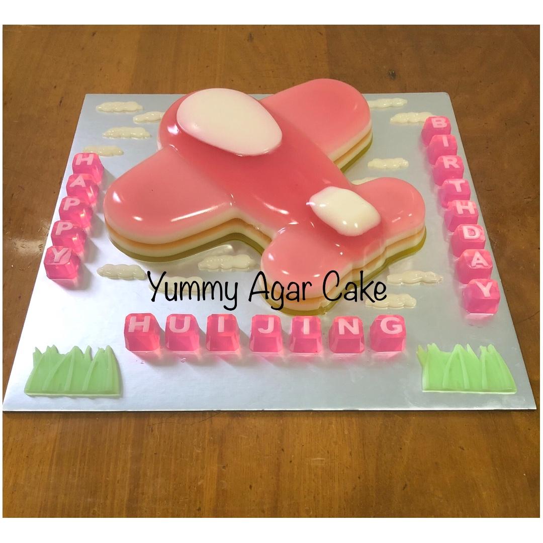 Aeroplane Airplane Agar Agar Birthday Cake