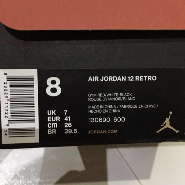 3c18ab448f8 Air Jordan Retro 12 Gym Red