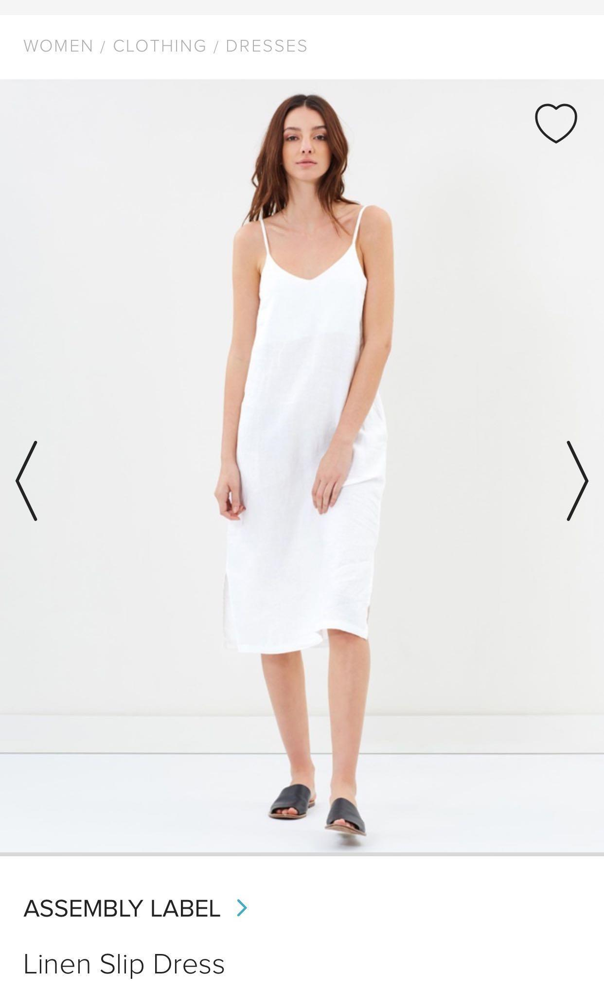 Assembly The Label Linen Slip Dress
