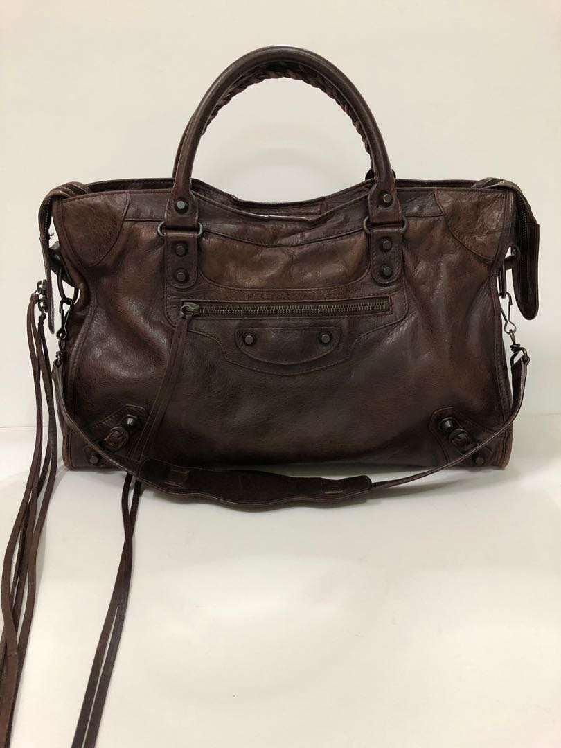 5be024318969 Authentic Balenciaga motorcycle classic city
