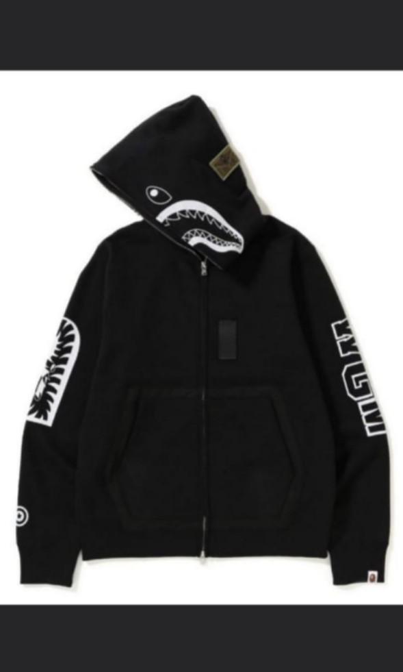 f75f94e14d02 Bape military Shark hoodie