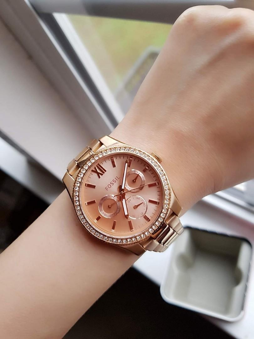 Black Friday Sale Fossil Rose Gold Stainless Steel Watch