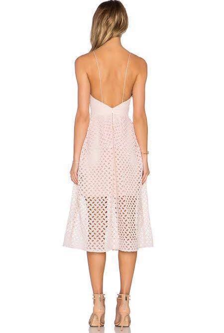 Blush Pink Midi Dress (RENT)