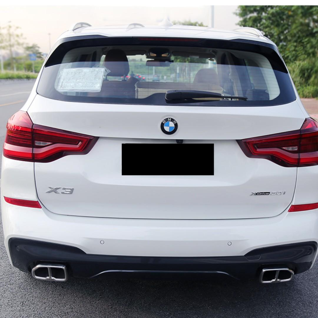 Bmw 2018 X3 G01 M X3 Exhaust Tip Cover Gloss Black Silver Chrome C W Logo Car Accessories Accessories On Carousell