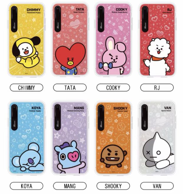 promo code f3c58 deec2 BT21 iPhone X/XS/XS MAX Light up Case