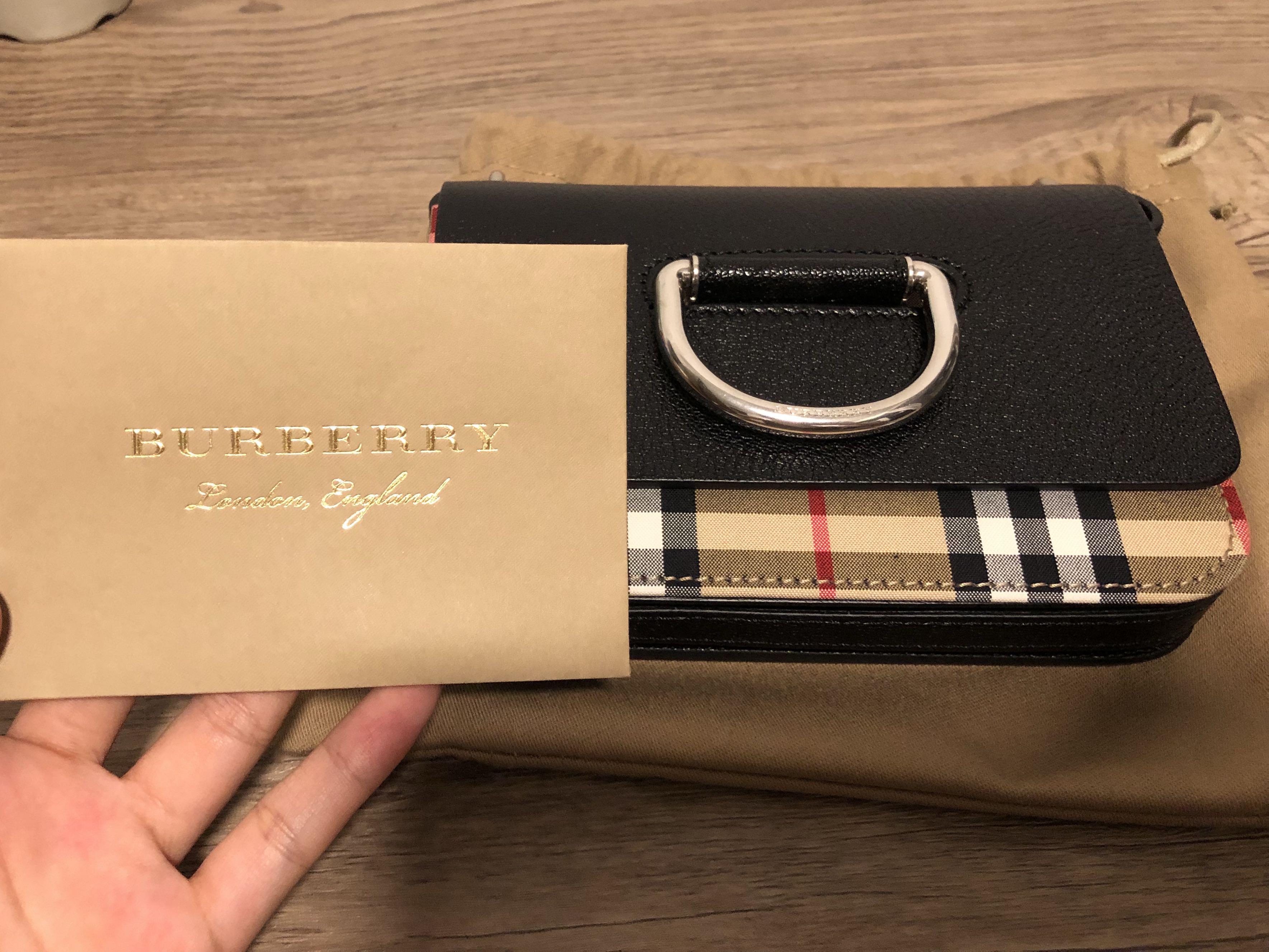 a122a96320a1 Burberry The Mini Vintage Check and Luxury D-Ring Bag