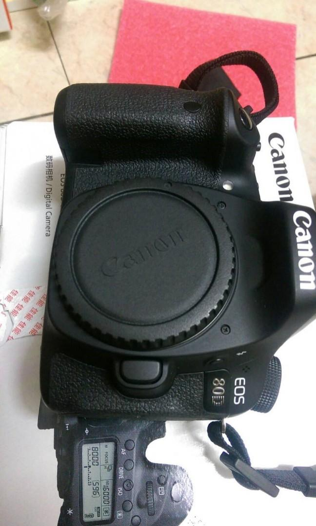 Canon eos 80d body only acc full set