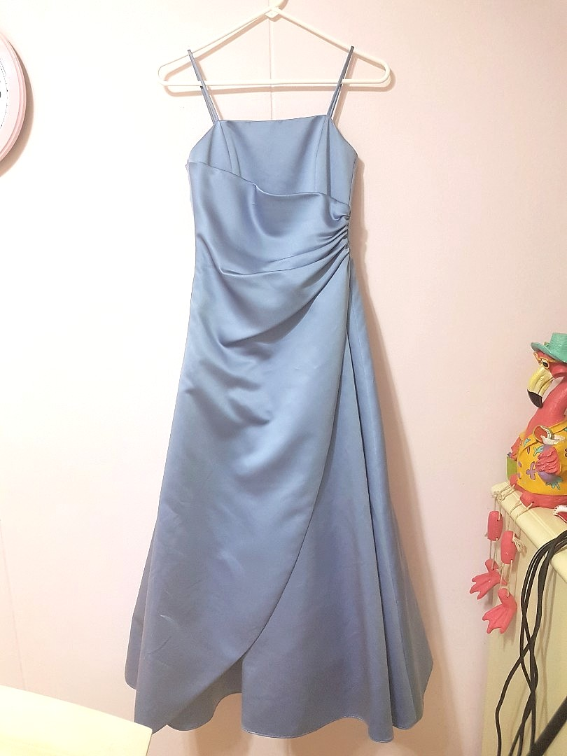 David S Bridal Periwinkle Bridesmaid Evening Ball Gown