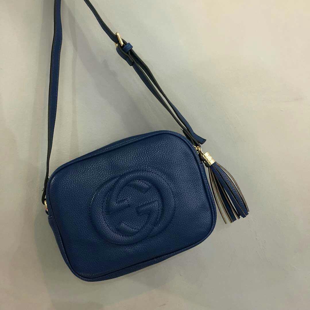 c7dd8ec56a48f Gucci Disco Soho Bag Navy Blue Color