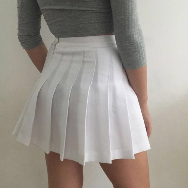 dd4daad596 INSTOCK American Apparel White Tennis Skirt, Women's Fashion, Clothes,  Dresses & Skirts on Carousell